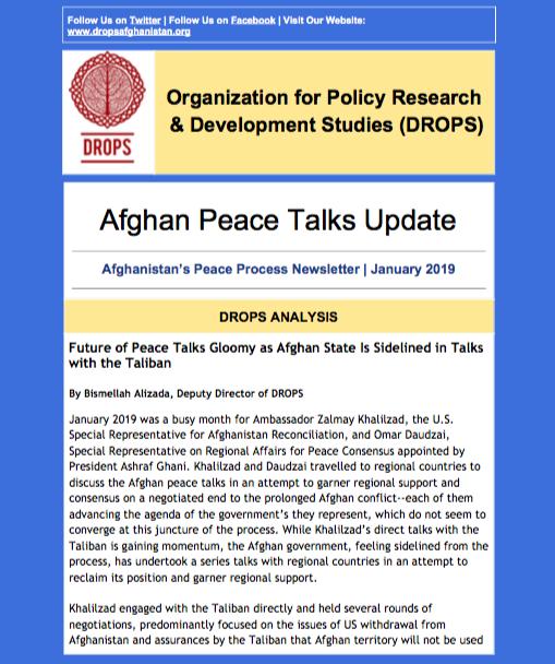 Issue 1, Afghan Peace Talks Newsletter January 2019