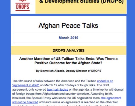 Issue 03, Afghan Peace Talks Newsletter March 2019